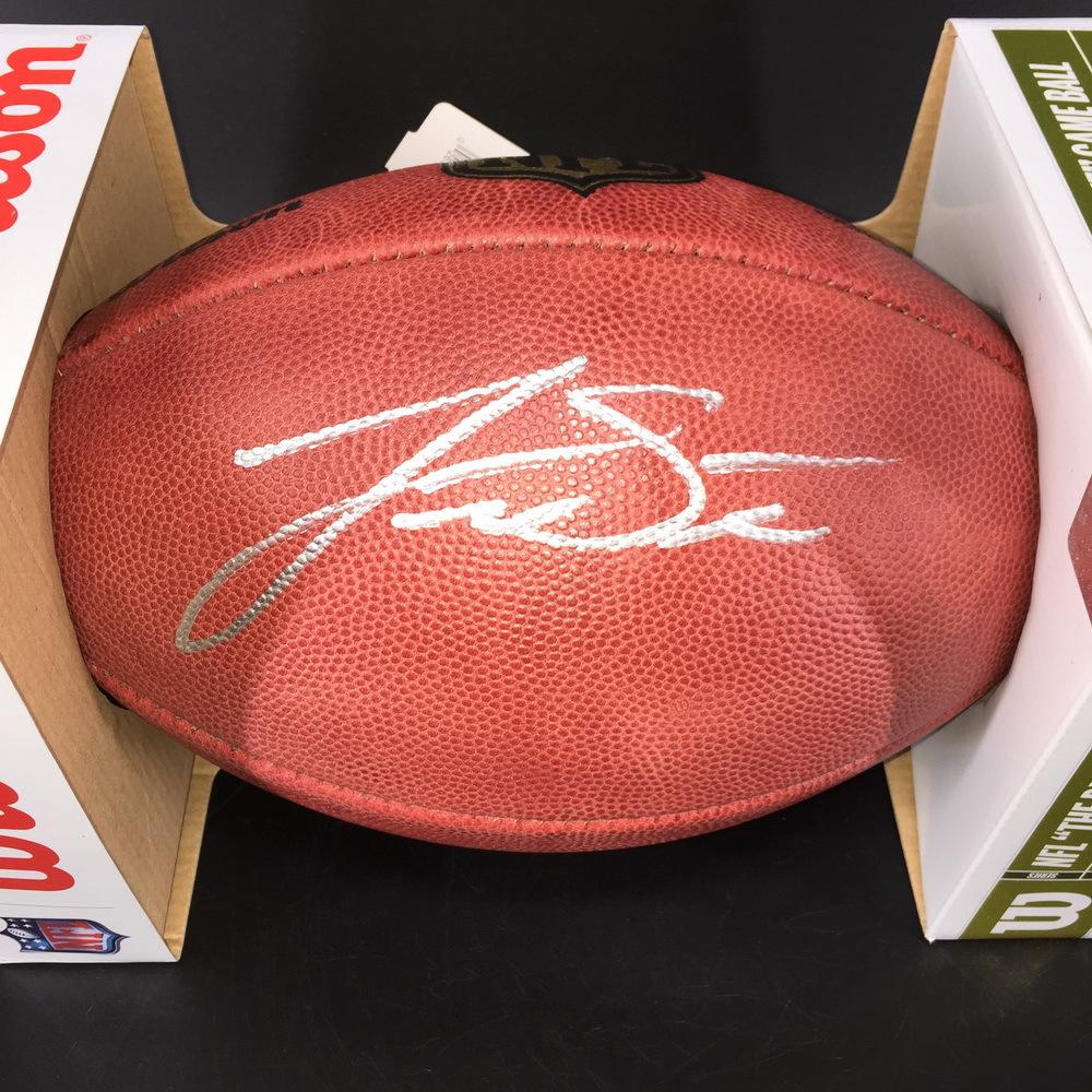 NFL - Patriots Jarrett Stidham Signed Authentic Football