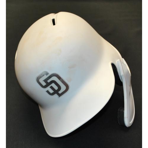 """Photo of Wil """"WIL"""" Myers San Diego Padres Game-Used 2019 Players' Weekend Helmet"""