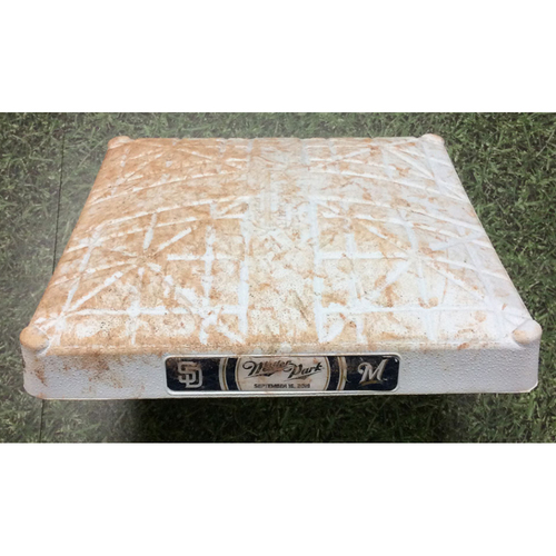 Photo of Game-Used 1st Base (INN 1-9) SD@MIL 09/16/19