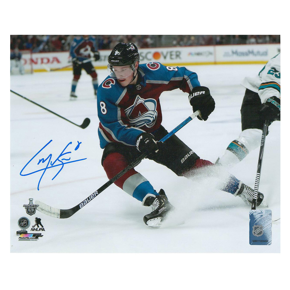 CALE MAKAR Signed Colorado Avalanche 8 X 10 Photo - 70443 A