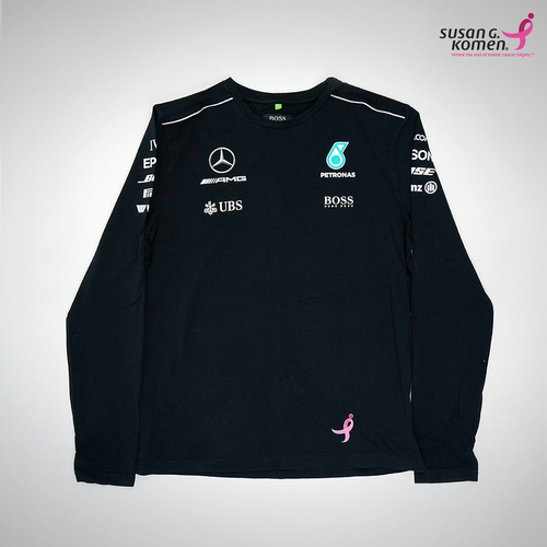 Photo of Mercedes-AMG Petronas Motorsport Long Sleeve Black Shirt - Supporting the Sus...