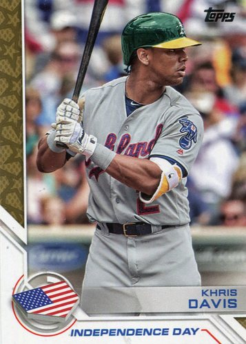 Photo of 2017 Topps Independence Day #ID5 Khris Davis