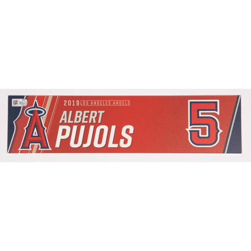 Photo of Albert Pujols Team Issued 2019 Locker Tag