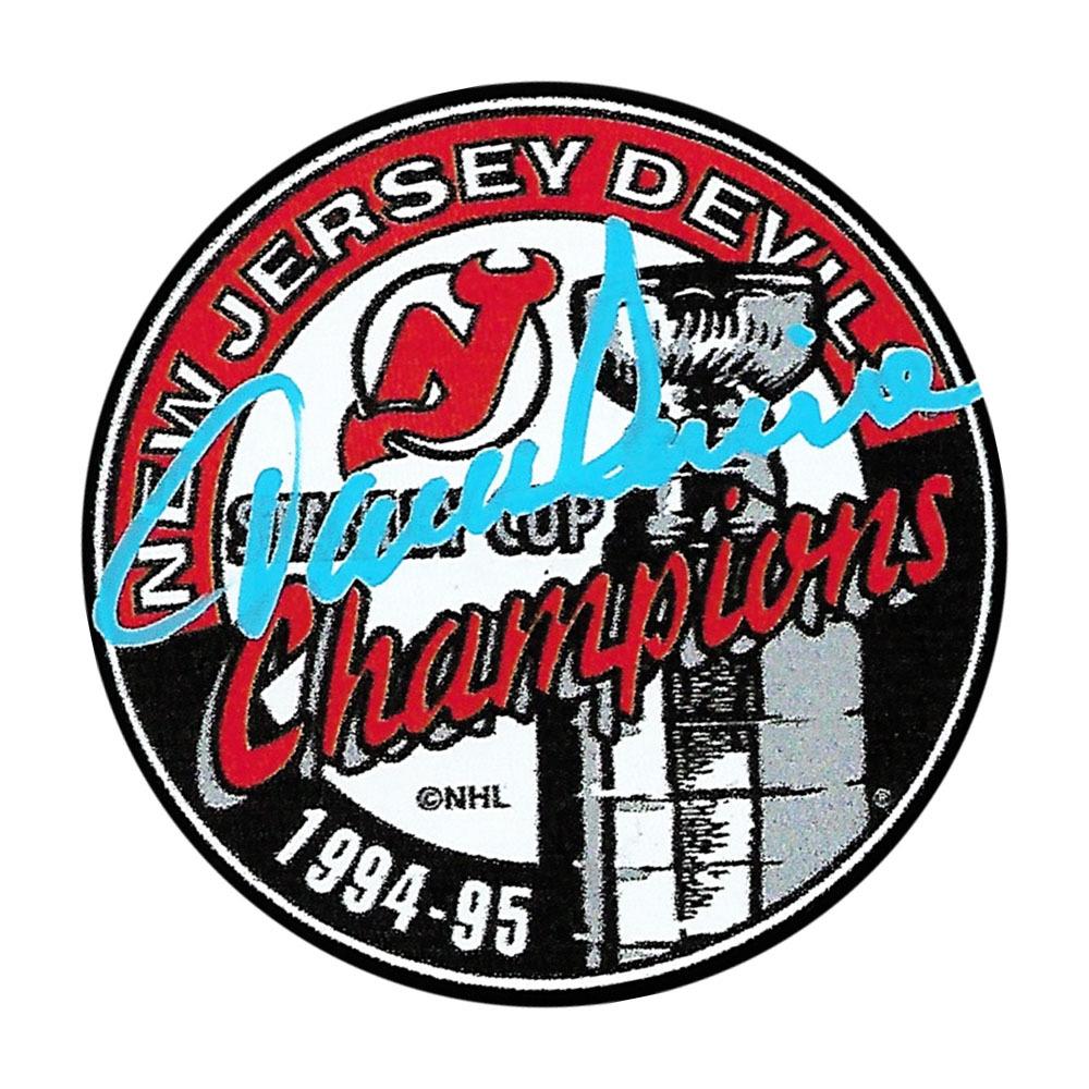 Jacques Lemaire Autographed New Jersey Devils 1995 Stanley Cup Champions Puck
