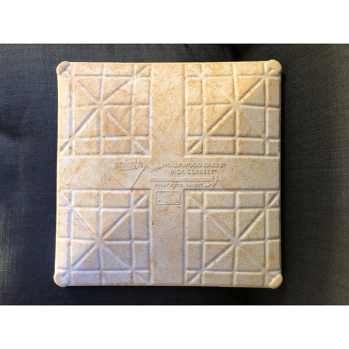 Photo of Game-Used 2nd Base: 2020 NLCS - Atlanta Braves vs. Los Angeles Dodgers - Game 1: Innings 1-9
