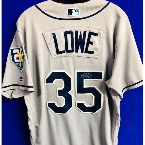 Photo of Team Issued 20th Anniversary Autographed Jersey: Brandon Lowe - Rookie Season