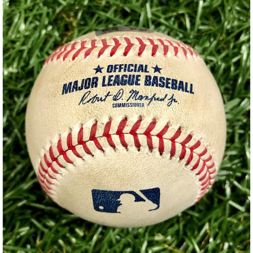 Photo of Game Used Baseball: Brandon Lowe Ground-Rule Double off Anthony Kay - July 26, 2020 v TOR