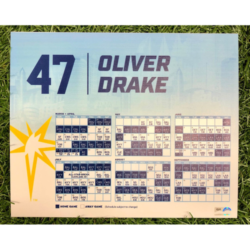 Photo of Rays Baseball Foundation: Team Issued Locker Tag: Oliver Drake - 2019 Season