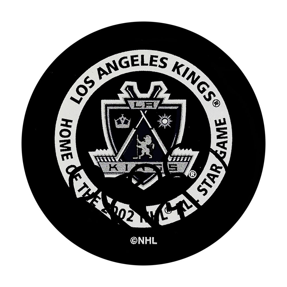 Rob Blake Autographed 2002 Los Angeles Kings Official Game Puck