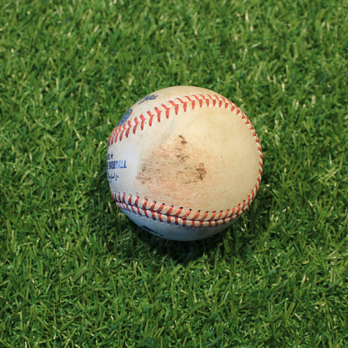 Photo of Game-Used Baseball: Daniel Lynch Debut, 3rd Career Strikeout (CLE @ KC 5/3/21)