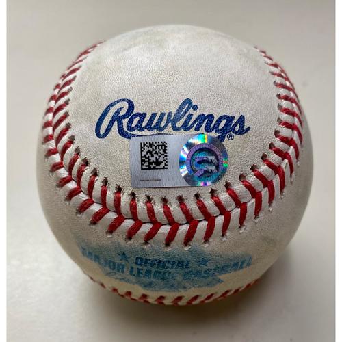 Photo of Game-Used Baseball:  Yuli Gurriel Houston Astros Single (MLB AUTHENTICATED)