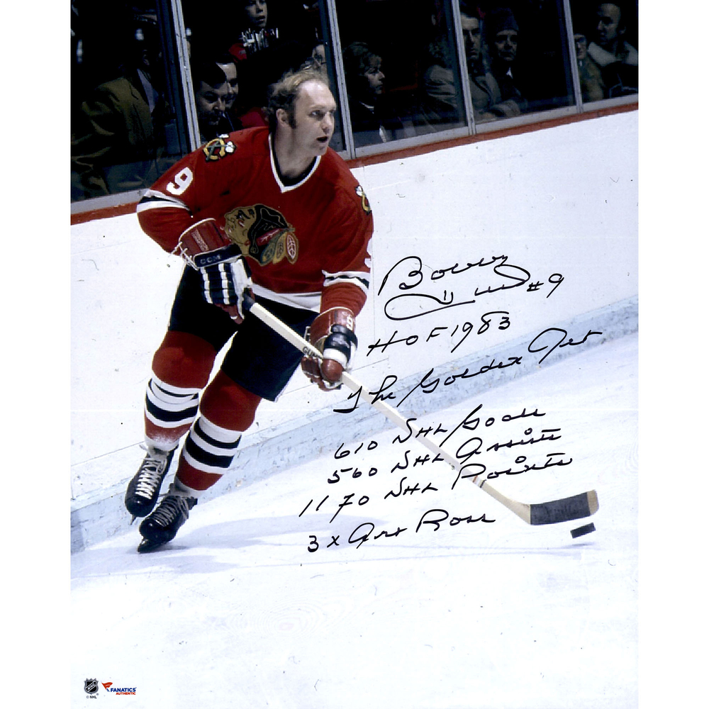 Bobby Hull Chicago Blackhawks Autographed 16