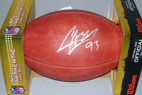 JAGUARS - CALAIS CAMPBELL SIGNED AUTHENTIC FOOTBALL