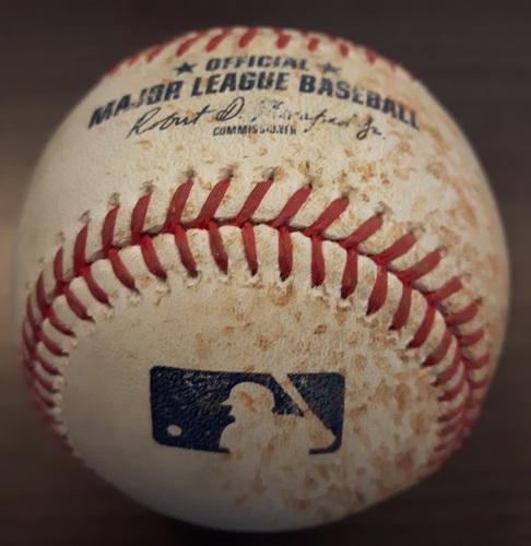 Photo of Authenticated Game Used Baseball - August 25, 2017: Single by Joe Mauer against J.A. Happ (Top 3)