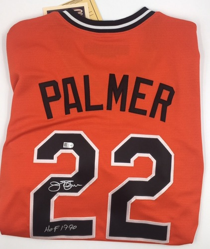 "Photo of Jim Palmer ""HOF 1990"" Autographed Orioles Jersey (Replica)"