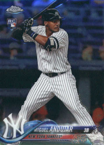 Photo of 2018 Topps Chrome #14 Miguel Andujar Rookie Card