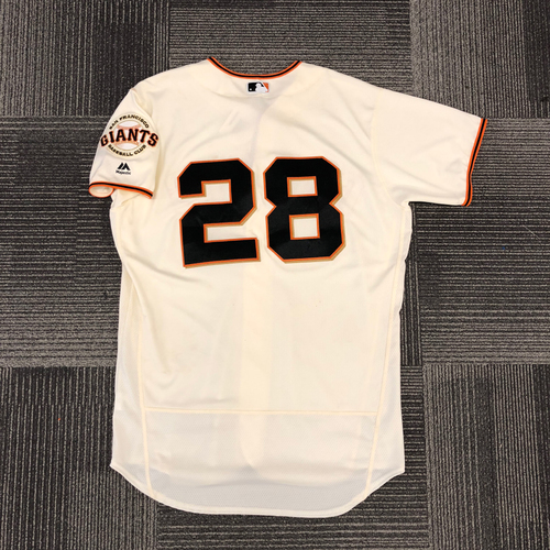 Photo of San Francisco Giants - 2017 Game-Used Jersey - Buster Posey - Worn on 9/30/17 - 2-4 - Size 46