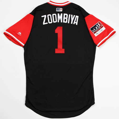 "Photo of Jarrod ""Zoombiya"" Dyson Arizona Diamondbacks Team-Issued Players' Weekend Jersey"