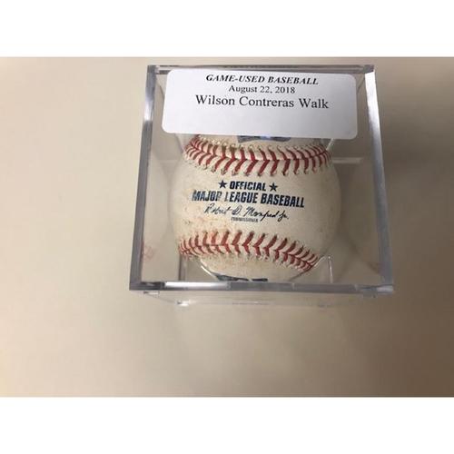 Photo of Game-Used Baseball: Wilson Contreras Walk