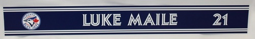 Photo of Authenticated Game Used 2018 Locker Name Plate - #21 Luke Maile