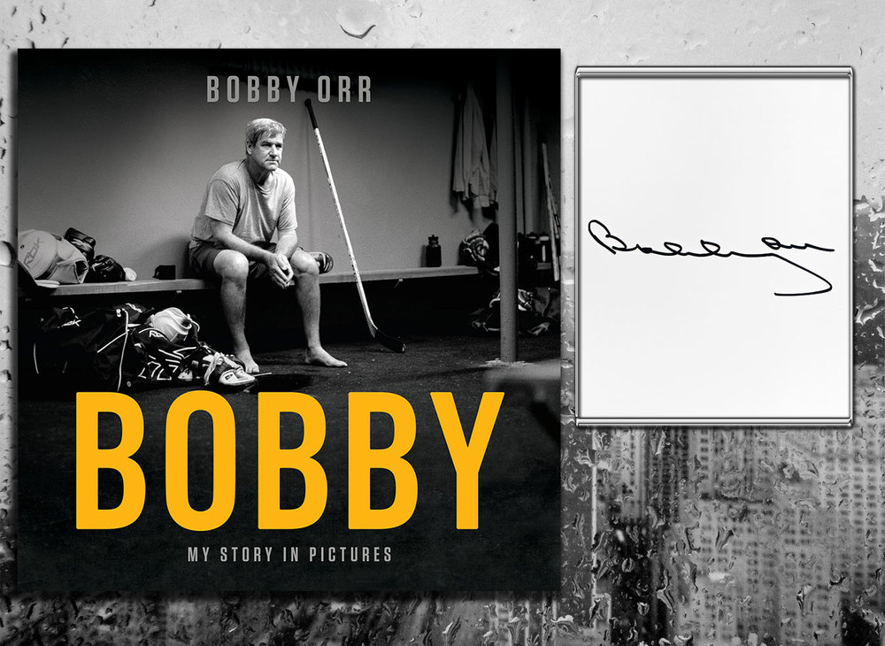 Bobby Orr BOBBY: MY STORY IN PICTURES Signed Hardcover Book
