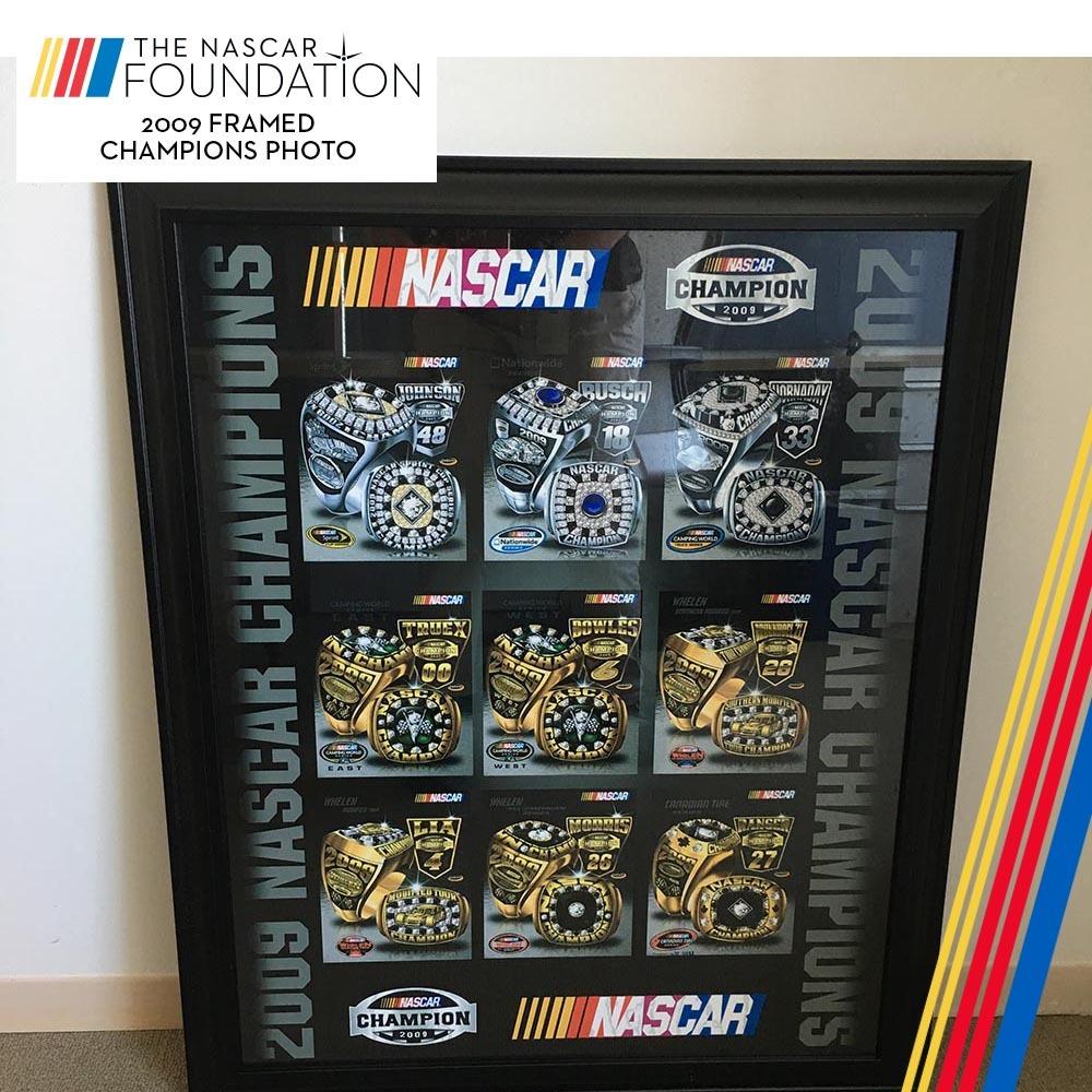 NASCAR's 2009 Framed Champion Photo!