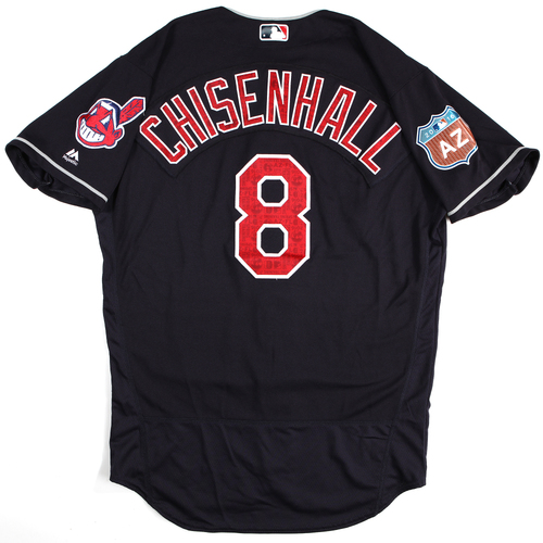 Photo of 2016  Spring Training -  Game-Used Jersey - Lonnie Chisenhall (Indians) - Size 46