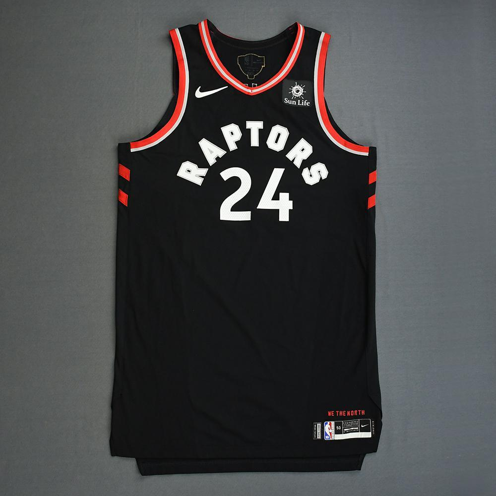 Norman Powell - Toronto Raptors - 2019 NBA Finals - Game 3 - Game-Worn Black Statement Edition Jersey