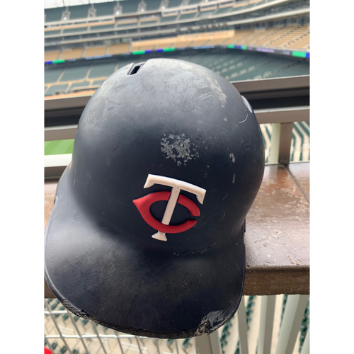 Photo of 2019 Game-used  Batting Helmet - Jason Castro #15 - Opening Day & 6HRs
