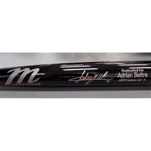 Photo of Adrian Beltre Autographed Bat