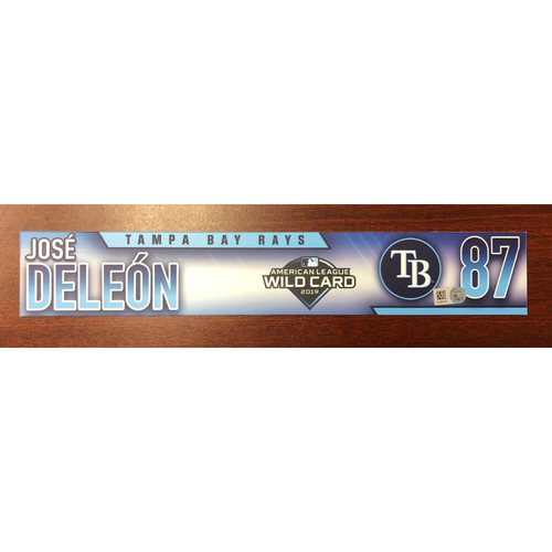 Photo of Game Used A.L. Wild Card Locker Tag: Jose De Leon - First Career Post Season Game