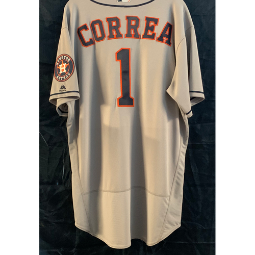 Photo of Carlos Correa 2016 Team-Issued Gray Road Jersey - Size 48