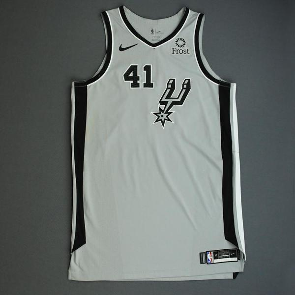 Image of Trey Lyles - San Antonio Spurs - Game-Worn Statement Edition Jersey - NBA Mexico Games - 2019-20 NBA Season