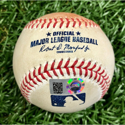 Photo of Game Used Baseball: Dansby Swanson Single off Yonny Chirinos - July 28, 2020 v ATL