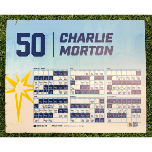 Photo of Rays Baseball Foundation: Game Used Opening Day Locker Tag: Charlie Morton - March 28, 2019 v HOU
