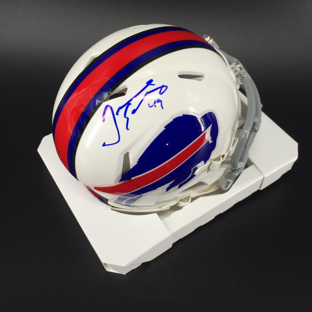Bills - Tremaine Edmunds Signed Mini Helmet