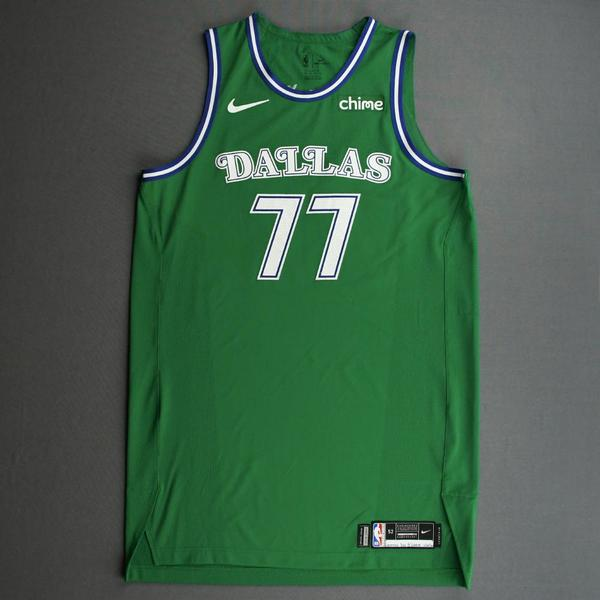 Image of Luka Doncic - Dallas Mavericks - Classic Edition (1966-67 Home Uniform) Jersey - Christmas Day '20 - Scored Team-High 27 Points
