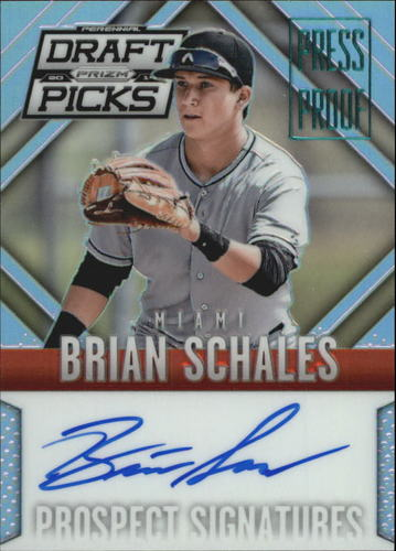 Photo of 2014 Panini Prizm Perennial Draft Picks Prospect Signatures Prizms Press Proof #57 Brian Schales