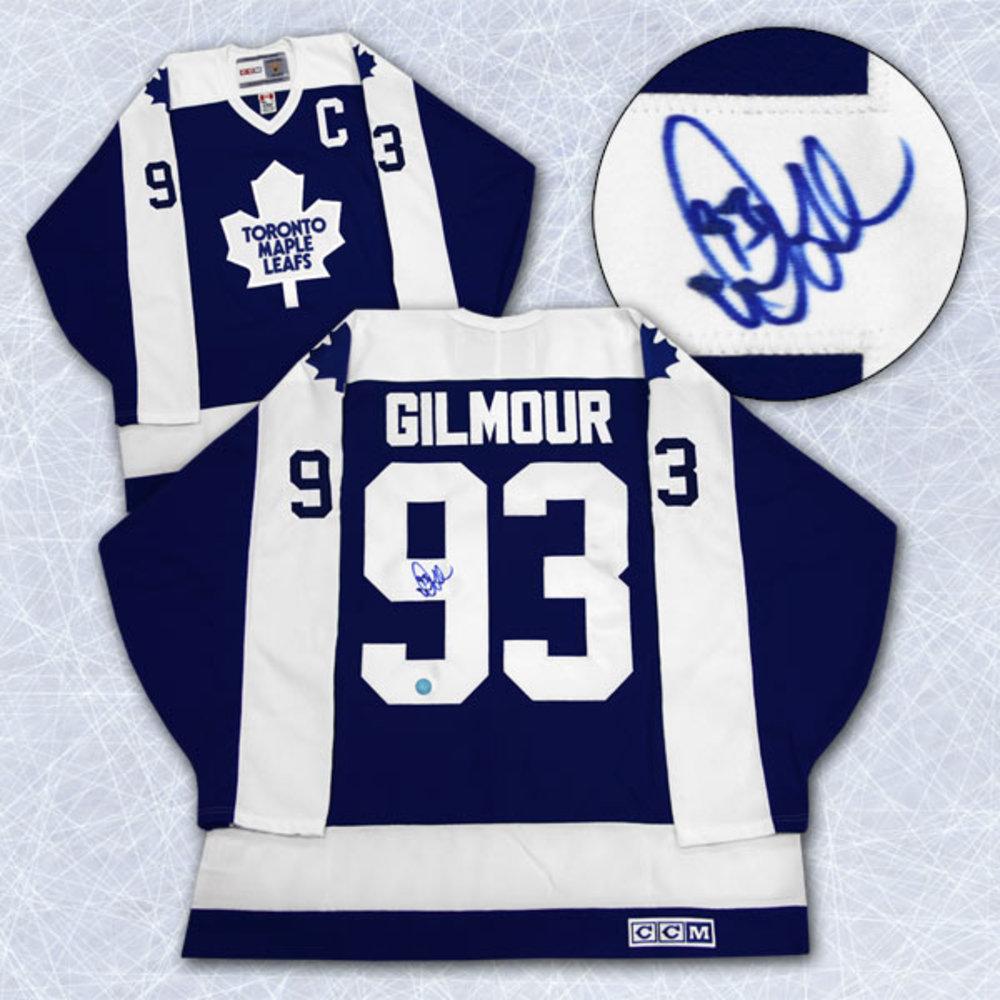 Doug Gilmour Toronto Maple Leafs Autographed Blue Retro CCM Hockey Jersey