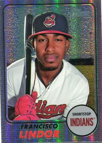 Photo of 2017 Topps Heritage Chrome Purple Refractor Francisco Lindor