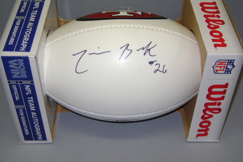 49ers - Trumaine Brock signed panel ball w/ 49ers logo