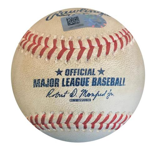 Photo of Game-Used Baseball from Pirates vs. Giants on 5/11/18 - Blanco Single, 2 Pitches to McCutchen