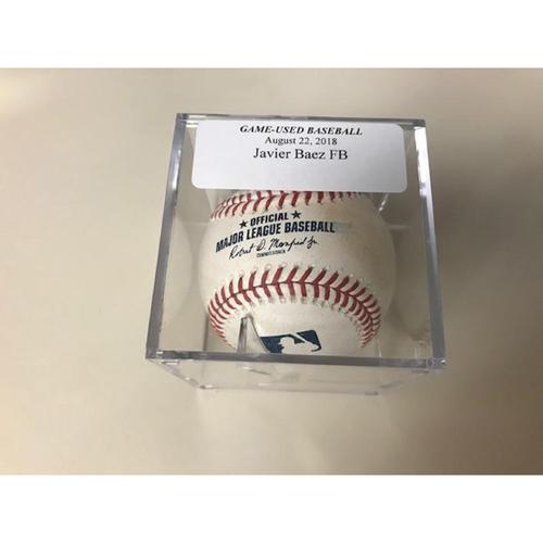 Photo of Game-Used Baseball: Javier Baez Foul Ball