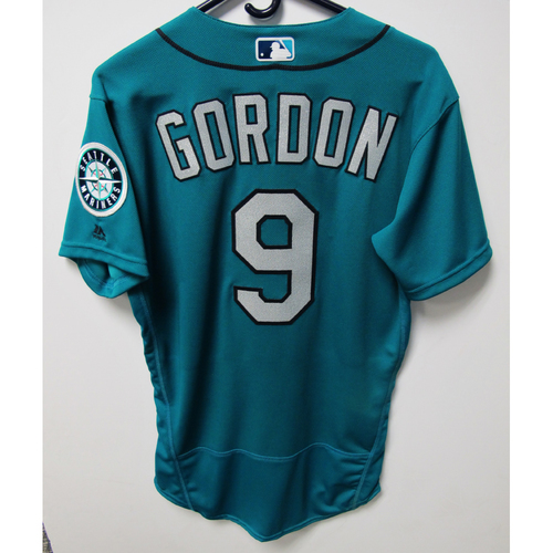 Photo of Dee Gordon Game-Used Green Jersey - July 20, 2018