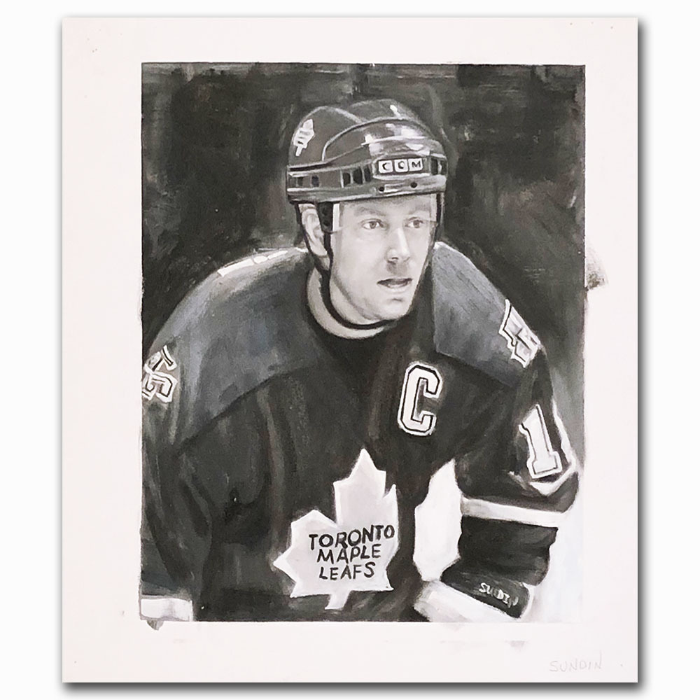 Mats Sundin Upper Deck Trading Card Original Artwork - Limited Edition 1/1