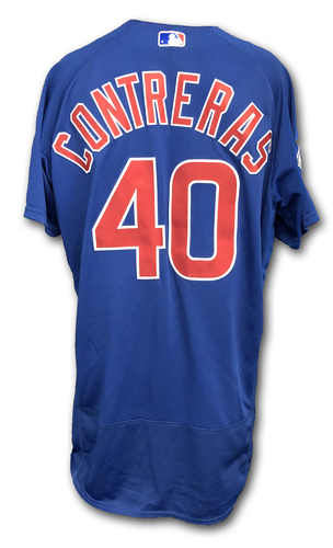 Photo of Willson Contreras Team-Issued Jersey -- Size 46 -- Spring Training 2019