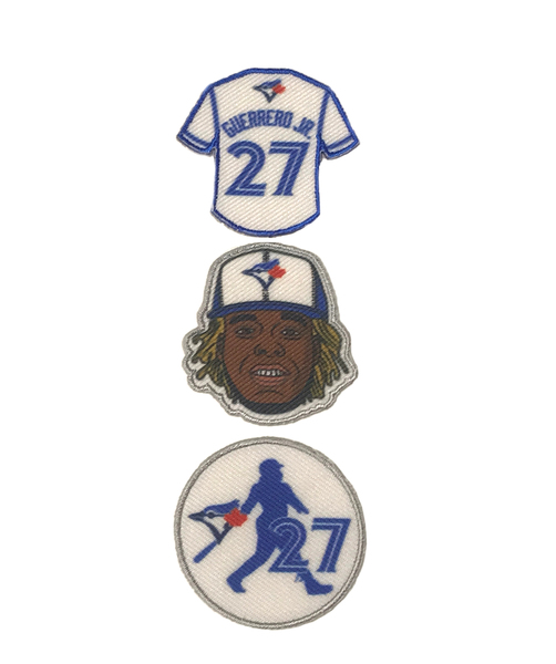 Toronto Blue Jays Guerrero Jr. 3 Pack of Fan Patches by The Emblem Source
