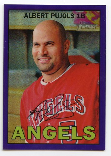 Photo of 2016 Topps Heritage Chrome Purple Refractors #THC481 Albert Pujols