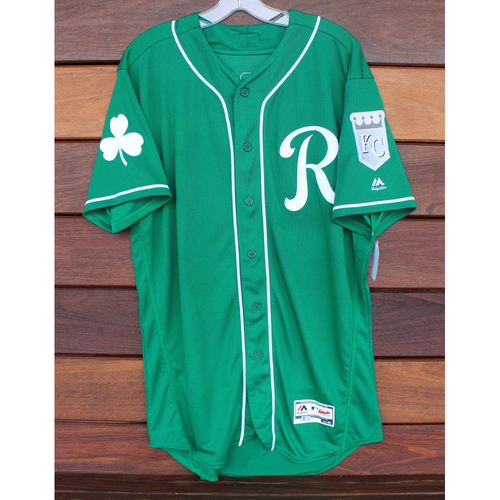 Photo of Game-Used St. Patrick's Day Jersey: Meibrys Viloria (Size 46 - 3/17/19 - KC @ SF)
