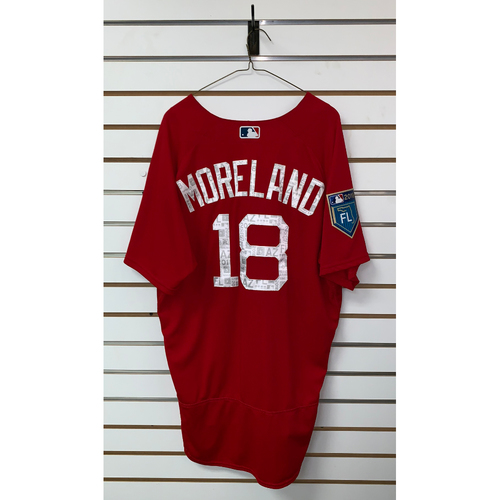 Photo of Mitch Moreland team issued 2018 Spring Training Jersey